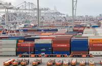 Rotterdam port.