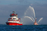 The Port of Long Beach's new fireboat, Protector.