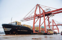 DP World will spend $156.7 million to upgrade the Rodney Container Terminal, pictured, at the Port of Saint John in New Brunswick, Canada.