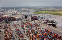 The port of Savannah, pictured, seems to have held on to a good deal of the cargo that was diverted there at the height of 2014 and 2015's West Coast labor crisis.
