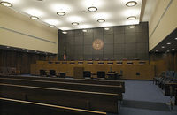 A courtroom of the 3rd US Circuit Court of Appeals in Philadelphia, which was the latest venue where the International Longshoremen's Association and New York Shipping Association tried to cut the Waterfront Commission of New York Harbor out of their hiring practices.