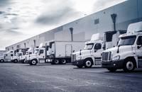 Trucks being loaded.