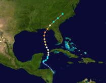 Hurricane Michael track.