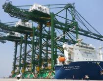 Bharat Mumbai Container Terminals' quay cranes.