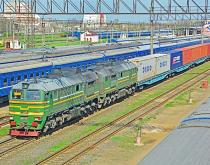Belarus Europe freight train.