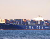 A CMA CGM ship.