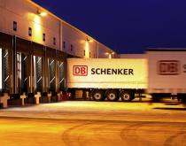 DB Schenker truck at warehouse
