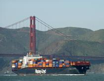 A Hapag Lloyd ship.