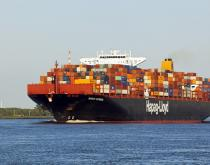 A Hapag-Lloyd container ship.
