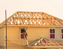 Home construction in Texas, United States.