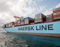 A Maresk Line container ship.