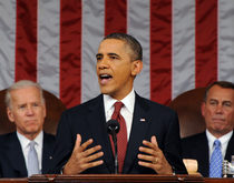 President Barack Obama delivers the State of the Union address on Feb. 12, 2013.