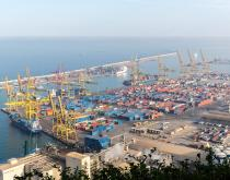 Port of Barcelona.