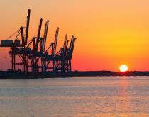 The Port of Norfolk, Virginia.