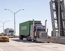 Trucks travel in Florida.
