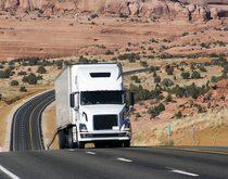 A Roadrunner transport truck