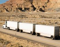 A tandum truck in the US.
