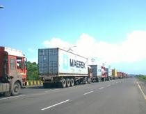 Trucks at JNPT.