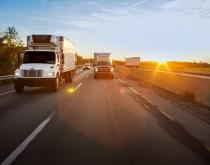 Trucks on a US highway.