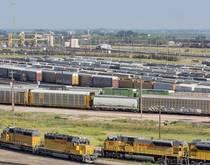 A Union Pacific rail yard.