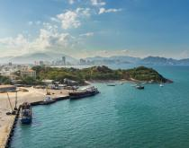 A harbor in Knhanh Hoa province, Vietnam.