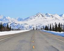 A highway in Alaska.