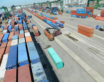 The port of Chennai, pictured, lost a Maersk Line call in April, which impacted its overall volumes in the first four months of the fiscal year.