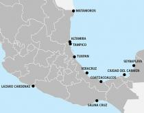 map of Mexico ports