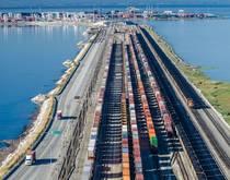 GCT Deltaport intermodal rail.