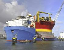 A heavy-lift ship.