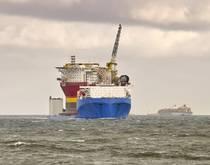 A heavy lift ship.