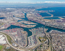 Container volumes at West Coast ports, including the ports of Los Angeles and Long Beach, pictured, peaked in 2007.