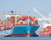 Maersk Line at the Port of Oakland.