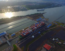 The larger locks of the Panama Canal, pictured, have made it possible to reroute large amounts of cargo destined for the interior United States away from West Coast ports.
