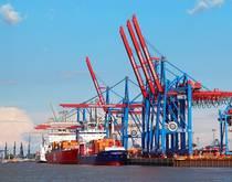 Hamburg port.
