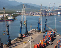 Port of Santos, Brazil.