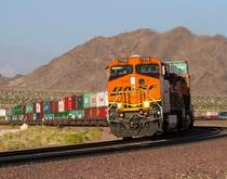 An intermodal travels through California, United States.