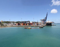 The port of Salvador, pictured, would gain a new container terminal as part of a larger push for transportation infrastructure privatization and modernization by the Brazilian government.