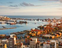 Port of Piraeus, Greece, container port