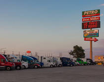 A US truck stop.