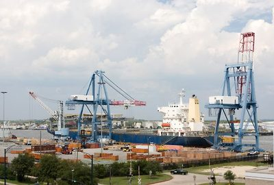 Port of Mobile, Alabama.