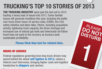 Top trucking stories of 2013 - part 1.