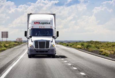 An XPO logistics truck.