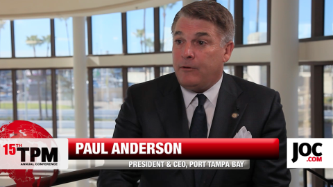 Port Tampa Bay's CEO Paul Anderson at TPM 2015.