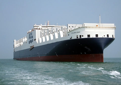 The ACL Atlantic Star is the first of the G4 class ships, whose combination of container and roll-on, roll-off capacity has helped the liner get through the onging downturn in the container sector.