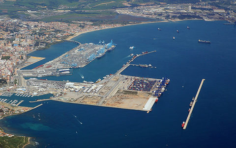 A new container terminal at the port of Algeciras, the future site of which is pictured in the foreground, would be a significant boost to Cosco Shipping Ports's international aspirations.