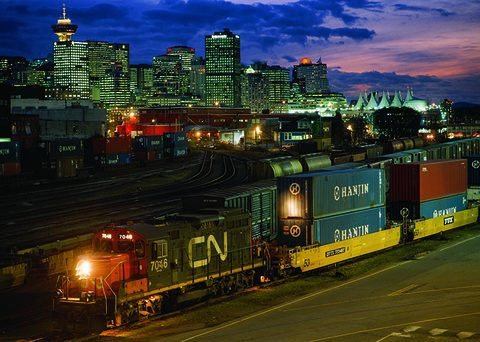 While international intermodal volume at Canadian National Railroad fell in the second quarter, its domestic intermodal business was up.