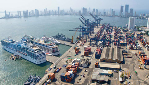 As vessel alliances change, SPRC of Colombia, pictured, and ports around the world will face new challenges.