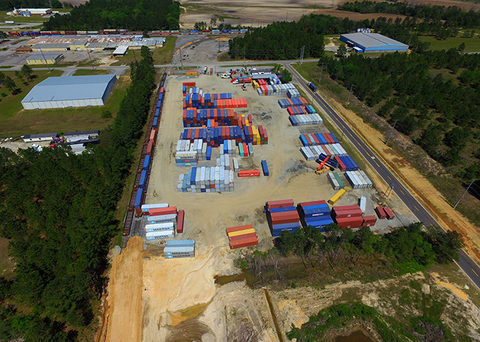 The Cordele inland port, pictured, is just the first in a Georgia push to develop a network of inland port and hinterland rail networks to facilitate goods movement through the state.