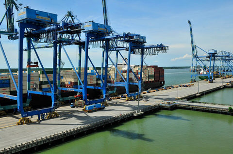 Asian transshipment hubs, such as Port Klang, Malaysia, pictured, must adjust to a landscape of low growth and shifting service networks.